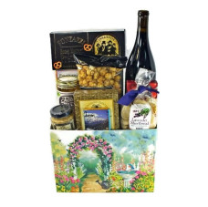 Springtime Red Wine and Cheese Gift Basket