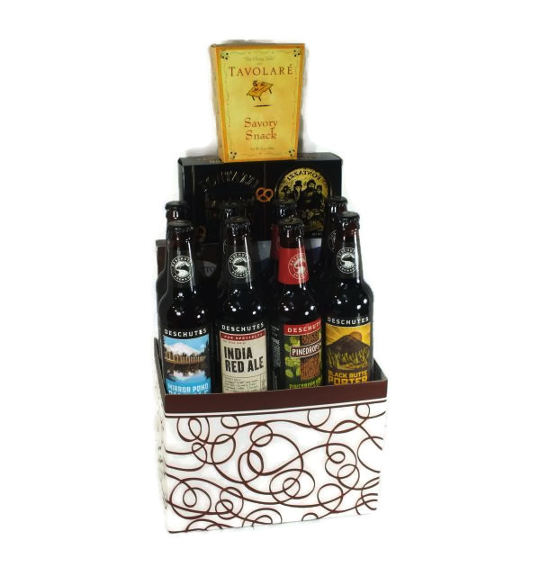 deschutes craft beer sampler deschutes gift baskets. Black Bedroom Furniture Sets. Home Design Ideas