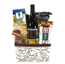 Autumn Celebration Basket w/ Oregon Wine
