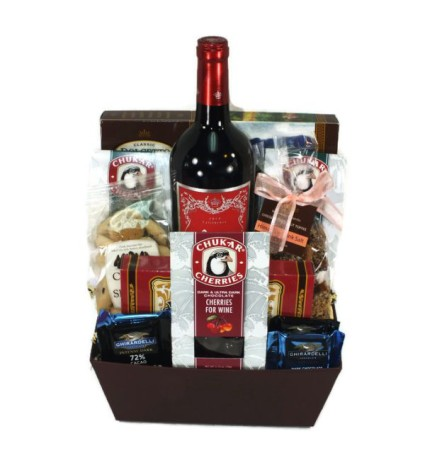 Red Wine & Chocolate Basket