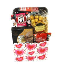 Valentine's Day Sausage & Cheese Basket